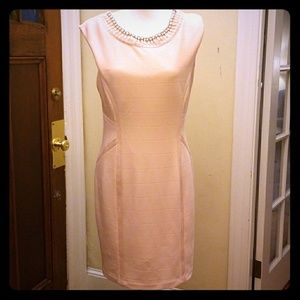 Baby Pink Covington Dress with Rhinestone Beads